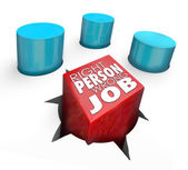Right Person Wrong Job Square Peg Round Hole Bad Hire — Foto de Stock