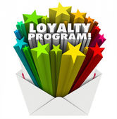 Loyalty Program Envelope Invitation Marketing Advertising Mailer — Stock Photo