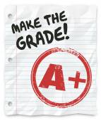 Make the Grade A Plus Report Card Prove Yourself — Stock Photo