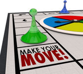 Make Your Move Board Game Piece Action Forward Turn — Stock Photo