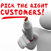 Pick the Right Customers Target Market Best Potential Audience — Stockfoto