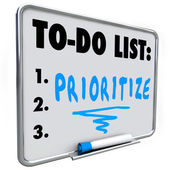 Prioritize Word To Do List Manage Workload Many Tasks — Stock Photo