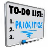 Prioritize Word To Do List Manage Workload Many Tasks — ストック写真