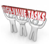 High Value Tasks Priority Most Important Jobs Biggest ROI — Stock Photo