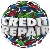 Credit Repair Improve Increase Score Rating Ability Borrow Money — Stock Photo