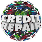 Credit Repair Improve Increase Score Rating Ability Borrow Money — Foto de Stock