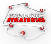 Winning Strategies Game Plan Arrows Diagram Good Process Procedu — Stock Photo