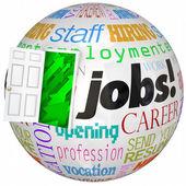 Jobs Career Door Open New World Work Opportunities — Stock Photo