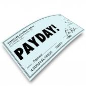 Payday Check Money Payment Earnings Work Compensation — Stockfoto