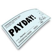 Payday Check Money Payment Earnings Work Compensation — Photo
