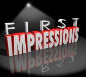 First Impressions Spotlight Introduction Debut Meeting New Peopl — Stockfoto