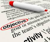 Objective Mission Goal Dictionary Word Definition Circled — Stockfoto