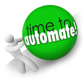 Time to Automate Improve Process Increase Output Work — 图库照片