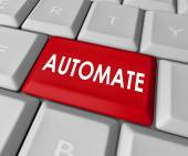 Automate Word Computer Keyboard Key Button Immediate Results — Zdjęcie stockowe
