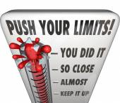 Push Your Limits Try Effort Thermometer You Did It — Stock Photo