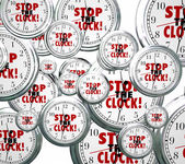 Stop the Clock Words Free Time Out Pause Break  — Stock Photo