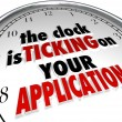 Clock Is Ticking on Your Application Deadline Due Now — Stock Photo #55030007
