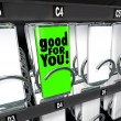 Good for You Snack Choice Food Vending Machine Healthy Option — Stock Photo #55030055