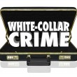 White Collar Crime 3d Words Briefcase Embezzle Fraud Theft — Stock Photo #55030643