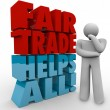 Fair Trade Thinker 3d Words Planning Business Sourcing Exports I — Stock Photo #55032773