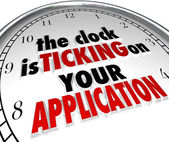 Clock Is Ticking on Your Application Deadline Due Now — Stock Photo