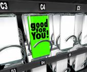 Good for You Snack Choice Food Vending Machine Healthy Option — Foto de Stock
