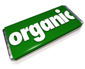 Organic Snack Candy Bar Natural Healthy Food Choice — Stockfoto