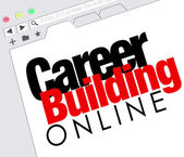 Career Building Online Website Job Seeking Classified — Stock Photo