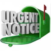 Urgent Notice Mail Critical Important Information Message Mailbo — Stock Photo