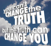You Cant Change Truth But It Can Alter Improve Your Life Religio — Stock Photo