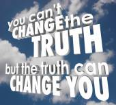You Cant Change Truth But It Can Alter Improve Your Life Religio — Stock fotografie