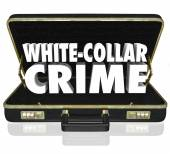 White Collar Crime 3d Words Briefcase Embezzle Fraud Theft — Stock Photo