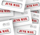 Junk Mail Pile Stack Envelopes Direct Marketing Advertising Lett — Stock Photo