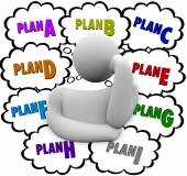Plan A B C Different Change Strategies Try Again — Zdjęcie stockowe