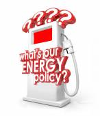 What is Our Energy Policy Question Fuel Gas Pump — Стоковое фото