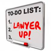 Lawyer Up To Do List Hire Attorney Legal Problem Lawsuit — Foto de Stock
