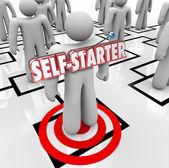 Self-Starter Employee Worker Organization Chart Initiative Ambit — Foto de Stock
