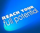Reach Your Full Potential 3d Words New Opportunity Growth — Foto de Stock