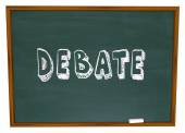 Debate Chalkboard Word Learning School Education Class — Stock Photo