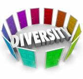 Diversity 3d Word Many Choices Ethnic Racial Backgrounds Heritag — Stock Photo