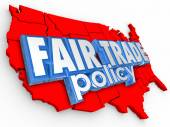 Fair Trade Poliy USA United States America Map Supply Economy — ストック写真