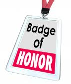 Badge of Honor Words Employee Pride Proud Distinction — Stock Photo