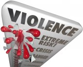 Violence Risk Measure Level Extreme Danger Warning Caution — Foto de Stock