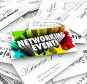Networking Event Business Cards Mixer Contacts Meeting — Stockfoto