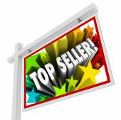 Top Seller Real Estate Sign Best Selling Agency Agent Salesperso — Stock Photo