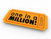 One in a Million Words Raffle Ticket Winner Game Luck Chance — Stock Photo