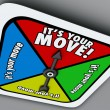 It's Your Move words on a game board — Stock Photo #59571757
