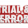 Trial and Error 3d words — Stock Photo #59573075