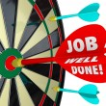 Job Well Done words on a 3d arrow — Stock Photo #59573339
