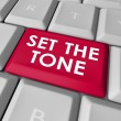 Set the Tone words on a computer keyboard button — Stock Photo #59576917